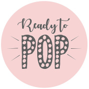 Pink Ready to POP Stickers - Packs of 35, 70 & 140 Stickers - Baby Shower - Girl Pink Party Deco Accessories