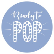 Blue Ready to POP Stickers - Packs of 35, 70 & 140 Stickers - Baby Shower - Gender Neutral Party Deco Accessories
