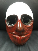 The Wolf Style Mask From The Payday Computer Games - Plastic Mask Universal Size With Elasticated Strap
