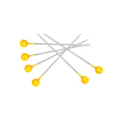 200Pcs Faux Pearl Head Pins for Sewing Patchwork Positioning Crafts - Yellow