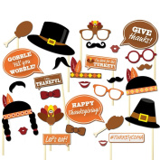 Tinksky Thanksgiving Photo Booth Props Thanksgiving Day Photo Prop Kit Party Favour 29pcs