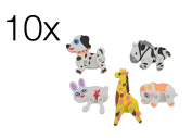 party favours for children boys & girls - 10x Eraser Eraser in animal motives Mitgebsel / children's birthday of boys and girls of TK group