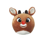 Hallmark Gifts Fluffball Rudolph Red Nose Reindeer Stuffed Plush Hanging Christmas Ornament Toy
