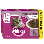 Whiskas Mixed Selection in Gravy 85g 18 Pack