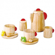 The tea house (PLANTOYS) birthday gifts baby gifts, gift of the popular wooden toys