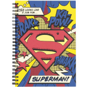 Superman Black Double Spiral Notebook A5