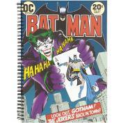 Batman Joker Black Double Spiral Notebook A4