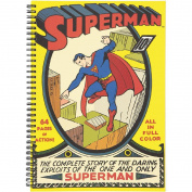 Superman Black Double Spiral Notebook A4