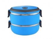 5Five Blue portable Stainless steel double insulated lunch box