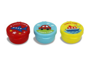 Cute Japanese Lidded Pots for Kids Bento Box Lunch - 3 Transport Designs Pack