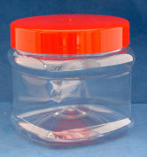 750ml Square Round Jars with Red Screw Caps