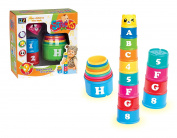 Baby Toddler Learning Educational Stacking Cups Stacking Blocks Toy Set Cups 9Pcs