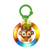 Shake & Glow Monkey....Light Up Ring Rattle from Bright Starts age 3m+ Bpa free
