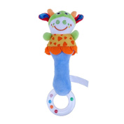 Domybest Baby Kids Bed Crib Prams Buggy Hanging Toy Cartoon Animals Shape Rattle Ringing Bell Squeaker Toys