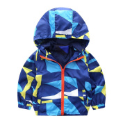 For 12M~3 Years old,Hahuha Baby Kids Geometric Printed Hooded Zip Coat Cloak Jacket Boy Girls Autumn Warm Outfits