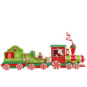 Hahuha Christmas Xmas Train For Decoration Decor Wood Toy Gift Pendant For Children Festive