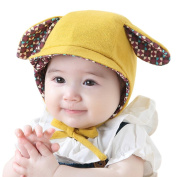 Bestanx Baby Girls Boys Cute Ears Winter Hat with Strap Warm Cotton Hat Caps