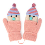 Zelta Unisex Baby Knitted Mitten Santa Hat Design Gloves