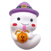 Upxiang 1Pcs Squishy Ghost Squeeze Stress Relief Soft Toys Slow Rising Cream Scented For Kids Adults(12.5*8*5.5cm)