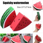 UPXIANG Watermelon Squeeze Toy Squishy Slow Rising Cream Scented Decompression Kids Toy Gift Adults Stress Relief Soft Toy, 15*12*4cm