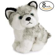UPXIANG 20cm Lovely Plush Dog Siberian Husky Soft Stuffed Animal Puppy Toy Dolls Kids Gift