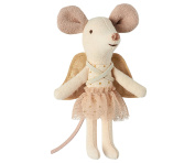 Maileg - Guardian Angel Mouse In Suitcase - Angel Mouse with Wings