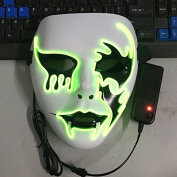 CYNDIE Luminous EL Wire Mask Halloween Light Up Cosplay Mask Creative Death Grimace Masks for Festival Costume Party Show Death Grimace Masks