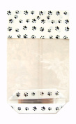 50 x DOG CAT PAW PRINT Block Bottom Clear Cellophane Party Treat Bag Ideal for Pets