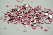 Pink Rhinestones, 500 Per Pack, Mixed Sizes, Flat Back, Acrylic Gems / Crystals