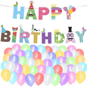 Happy Birthday Banner and Balloon Pack - Party Decorations Birthday Kids