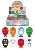 4 x Assorted Christmas Balloon Heads ~ Each pack containsStickers, Feet & Balloons