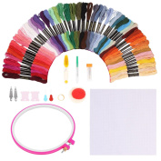 SOLEDI Embroidery Floss Embroidery Thread Rainbow Colour Cross Stitch Floss