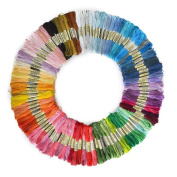 Soledi Cross Stitch Floss Premium Rainbow Colour Embroidery Floss Sewing Threads