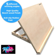 PABLO - A2 Wooden Art and Craft Work Station - A2 Adjustable Wooden Desk/Table Easel