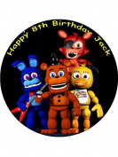 7.5 Five Nights at Freddy's Edible Icing Birthday Cake Topper