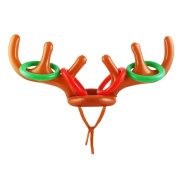 VEYLIN Deer Head Shape Inflatable Toys For Christmas Ring Toss Game