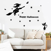 OverDose Halloween Stickers Home Household Mural Decor Decal PVC Wall Sticker 120 x 80cm