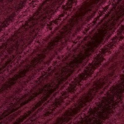 Crushed Velvet Fabric 147cm width. 12 colour options Sold by the metre, Free Delivery - Ruby