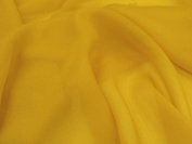 Polyester Chiffon Fabric 147cm width. 39 colour options Sold by the metre, Free Delivery - Gold