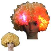 ALCYONEUS Afro Big Hair Flashing Unisex Light Full Wig Night Cosplay Accessories 5 Pcs LED