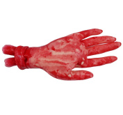 Fablcrew Fake Bloody Hand Scary Human Hand Blood Body Parts for Halloween Party Prop and Cosplay 1PC