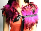 Halloween Feather Sewing Trimming Collar Fringe Women Shawls Coque Trim Craft
