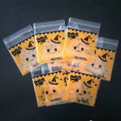 100x Da.Wa Self-Adhesive Halloween Cookie Bags Cellophane Pumpkin Candy Storage Bag Party Gift