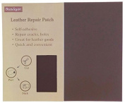 Leather Patch - Adhesive Backing - Repair Sofa, Car Seat, Jackets, Shoes and Handbag, 25 CM by 15 CM, Dark Brown - by Beaulegan