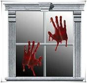 4X Bloody Gel Hands Horror Halloween Window Clings