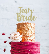 Team Bride Hen Party Cake Topper - Bride to Be Glitter Gold Cake Topper