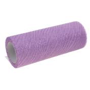 "MagiDeal Glitter Wavy Tulle Roll Spool Tutu Wedding Decoration Fabric DIY Gift Wrap Crafts Chair Bow Bridal Skirt Baby Dress 6"" Wide x 10 Yards - Purple, 15 x 914 cm"
