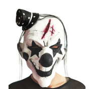 Pinji Halloween Latex Clown Mask Black and White for Adults Cosplay Props Costume Party Decoration