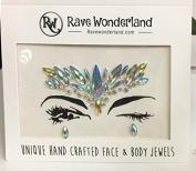 Treasure-House 2 pcs Mermaid Face Gems - Festival Jewels Crystals Bindi Unicorn Mermaid Rainbow Tears - The Latest Must have Accessory f