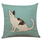 Indexp Cute Cat Pattern Printing Festival Throw Cushion Cover Sofa Home Decoration Pillow case
